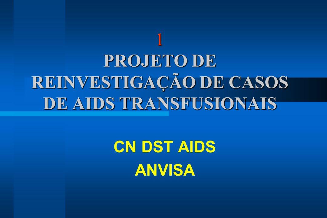 1 PROJETO DE REINVESTIGAÇÃO DE CASOS DE AIDS TRANSFUSIONAIS CN DST AIDS ANVISA