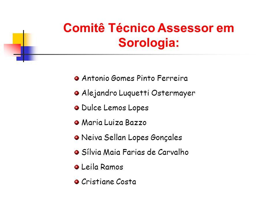 Comitê Técnico Assessor em Sorologia: Antonio Gomes Pinto Ferreira Alejandro Luquetti Ostermayer Dulce Lemos Lopes Maria Luiza Bazzo Neiva Sellan Lope