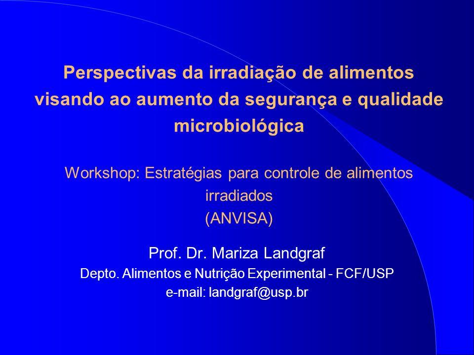 Perspectivas da irradiação de alimentos visando ao aumento da segurança e qualidade microbiológica Workshop: Estratégias para controle de alimentos ir
