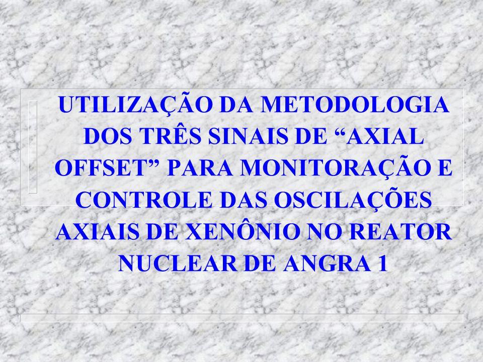 UTILIZAÇÃO DA METODOLOGIA DOS TRÊS SINAIS DE AXIAL OFFSET PARA MONITORAÇÃO E CONTROLE DAS OSCILAÇÕES AXIAIS DE XENÔNIO NO REATOR NUCLEAR DE ANGRA 1