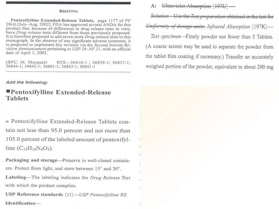 Meio de dissolução Desaeração realizada de acordo com capítulo geral USP Dissolution outros métodos, desde que validados meios contendo tensoativos não são desaerados.