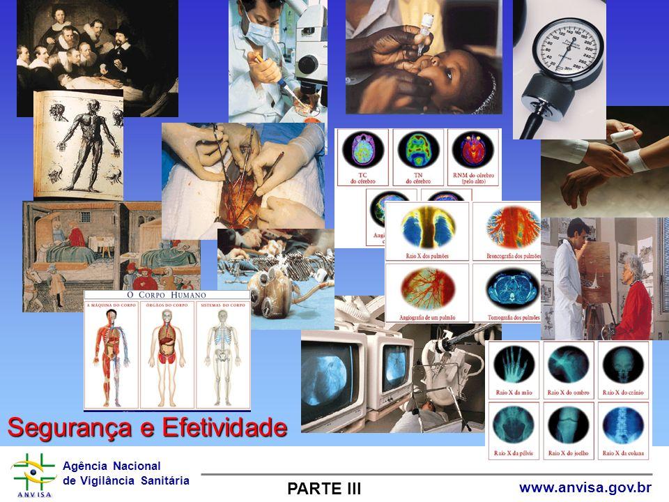 Agência Nacional de Vigilância Sanitária www.anvisa.gov.br Segurança e Efetividade PARTE III