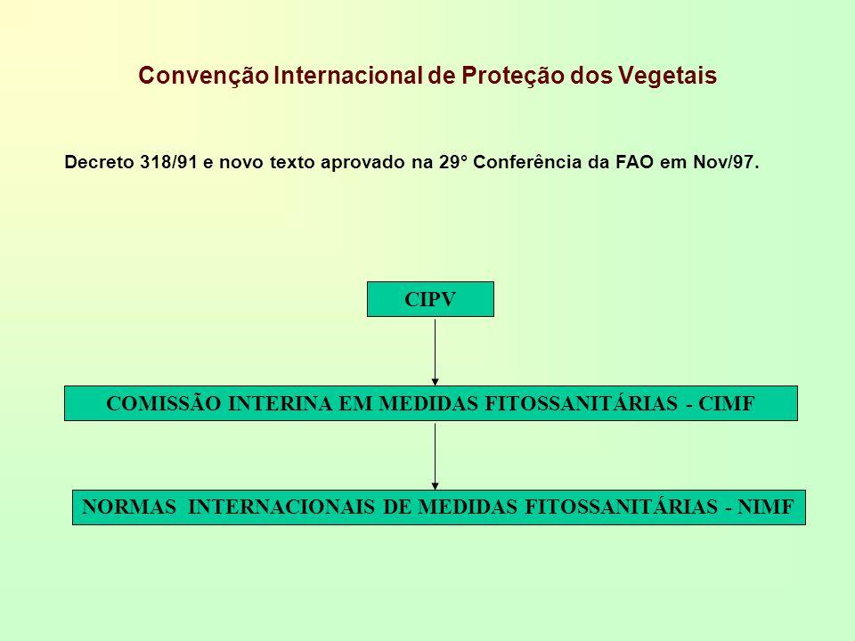 Convenção Internacional de Proteção dos Vegetais CIPV COMISSÃO INTERINA EM MEDIDAS FITOSSANITÁRIAS - CIMF NORMAS INTERNACIONAIS DE MEDIDAS FITOSSANITÁ