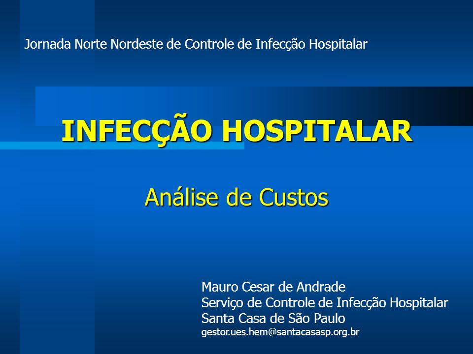 INFECÇÃO HOSPITALAR Análise de Custos Mauro Cesar de Andrade Serviço de Controle de Infecção Hospitalar Santa Casa de São Paulo gestor.ues.hem@santaca