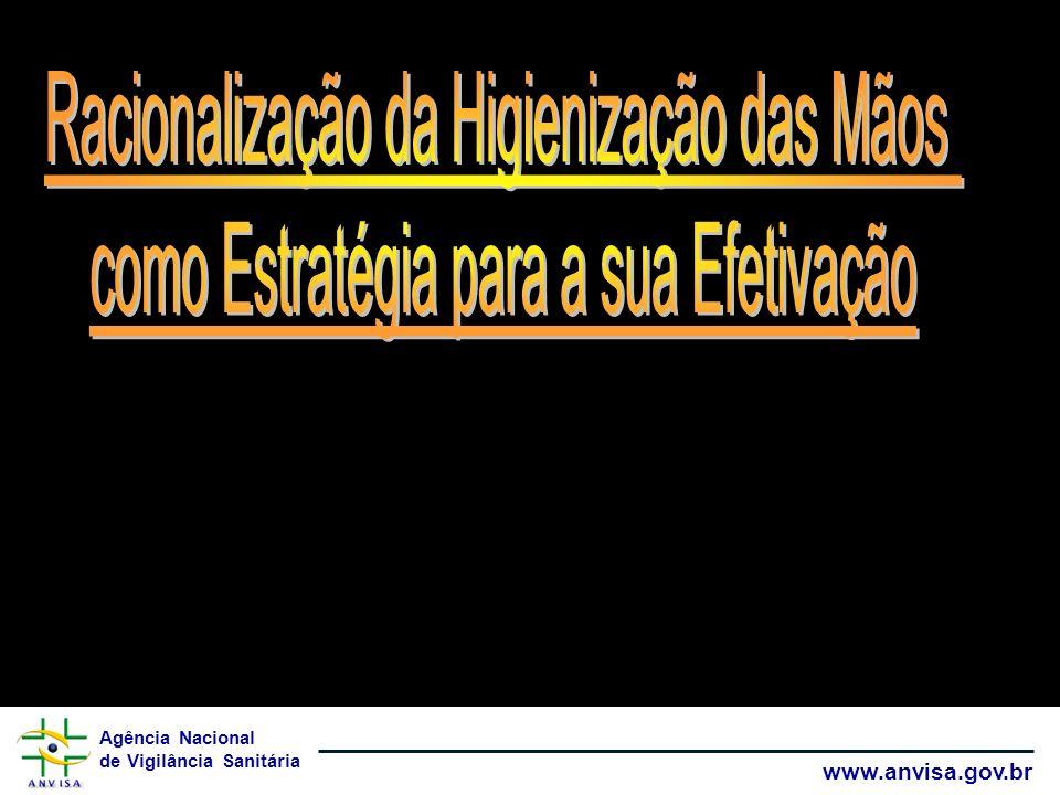 Agência Nacional de Vigilância Sanitária www.anvisa.gov.br Lavar as mãos