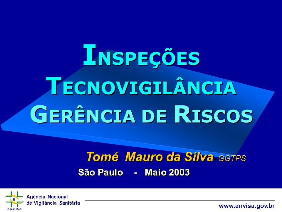 Agência Nacional de Vigilância Sanitária www.anvisa.gov.br Curriculum Nome Tomé Mauro da Silva FormaçãoEngenheiro Químico InstituiçãoANVISA/GGTPS/UINSP - Normalização de Produtos para Área da Saúde - Certificação de Produtos