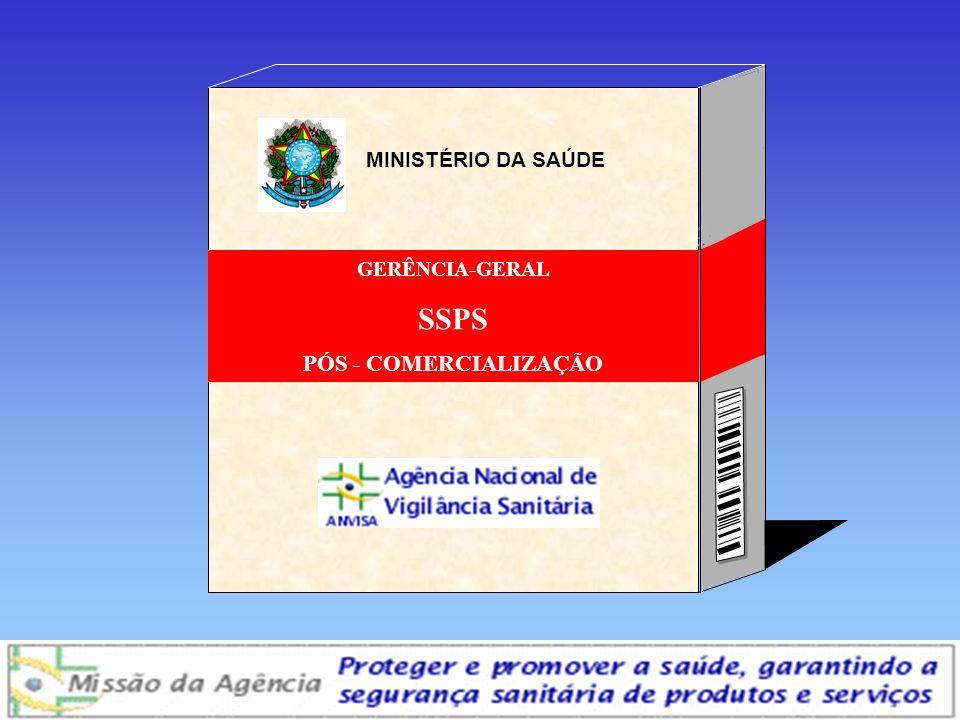 Agência Nacional de Vigilância Sanitária www.anvisa.gov.br GERÊNCIA-GERAL SSPS PÓS - COMERCIALIZAÇÃO MINISTÉRIO DA SAÚDE