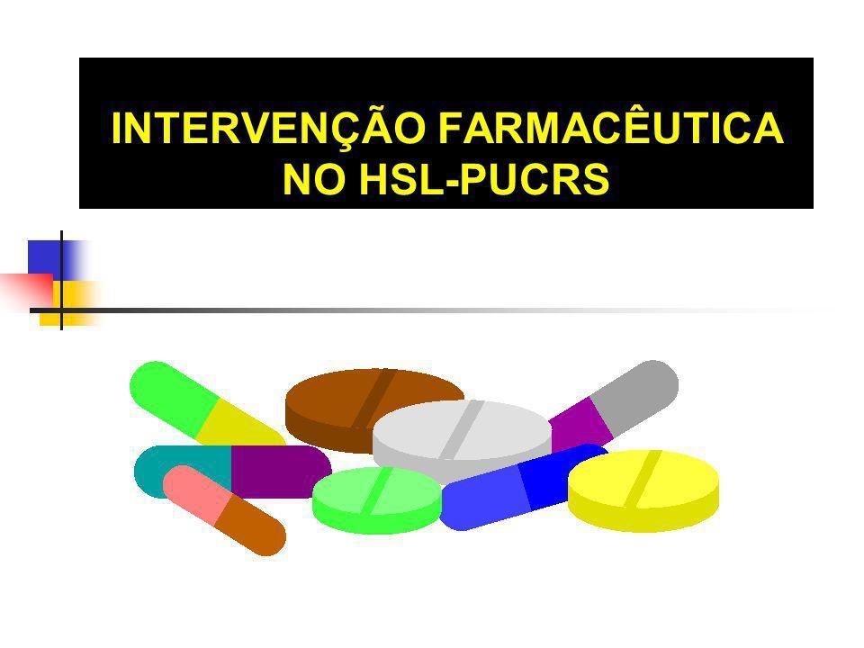 OBJETIVOS Monitorar o uso de medicamentos Orientar a enfermagem quanto ao preparo e armazenamento de medicamentos Assessorar a equipe médica quanto às apresentações comerciais disponíveis Mensurar a atuação farmacêutica