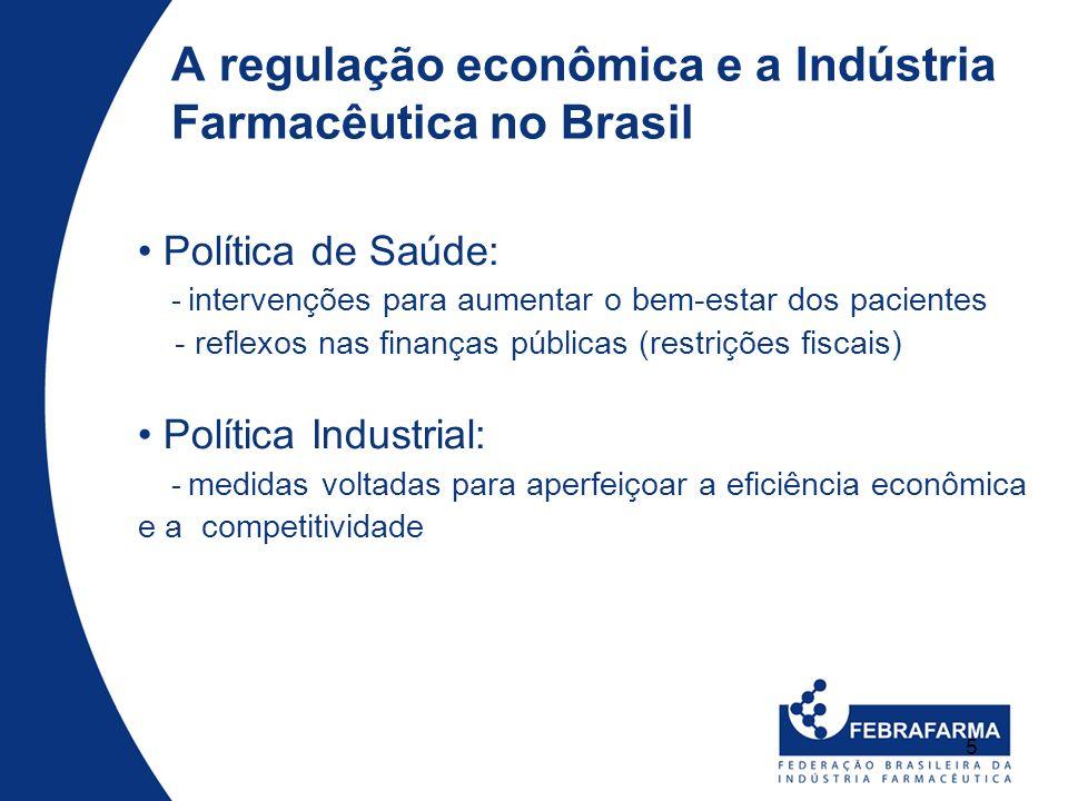 5 Política de Saúde: - intervenções para aumentar o bem-estar dos pacientes - reflexos nas finanças públicas (restrições fiscais) Política Industrial: