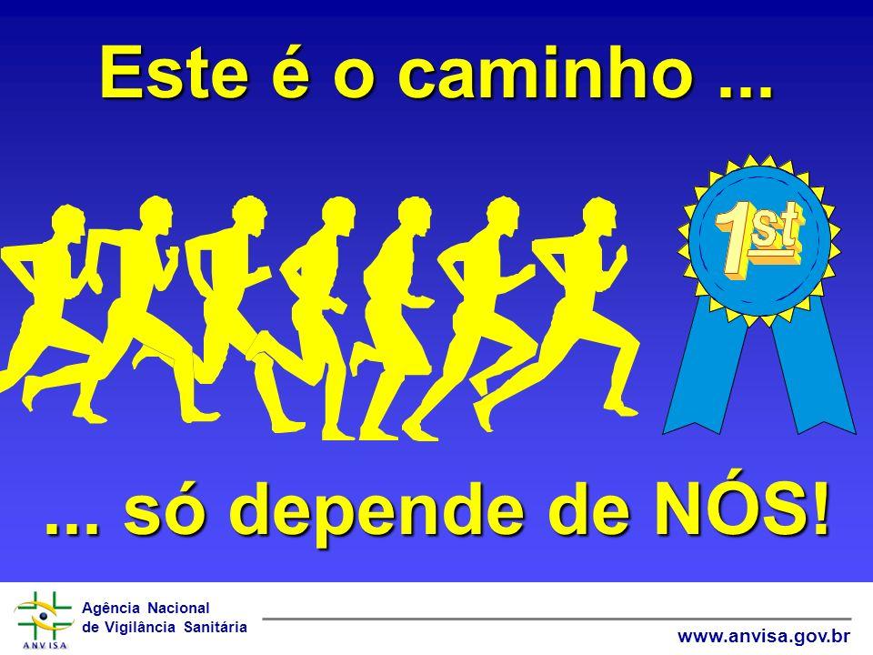 Agência Nacional de Vigilância Sanitária www.anvisa.gov.br Este é o caminho...... só depende de NÓS!