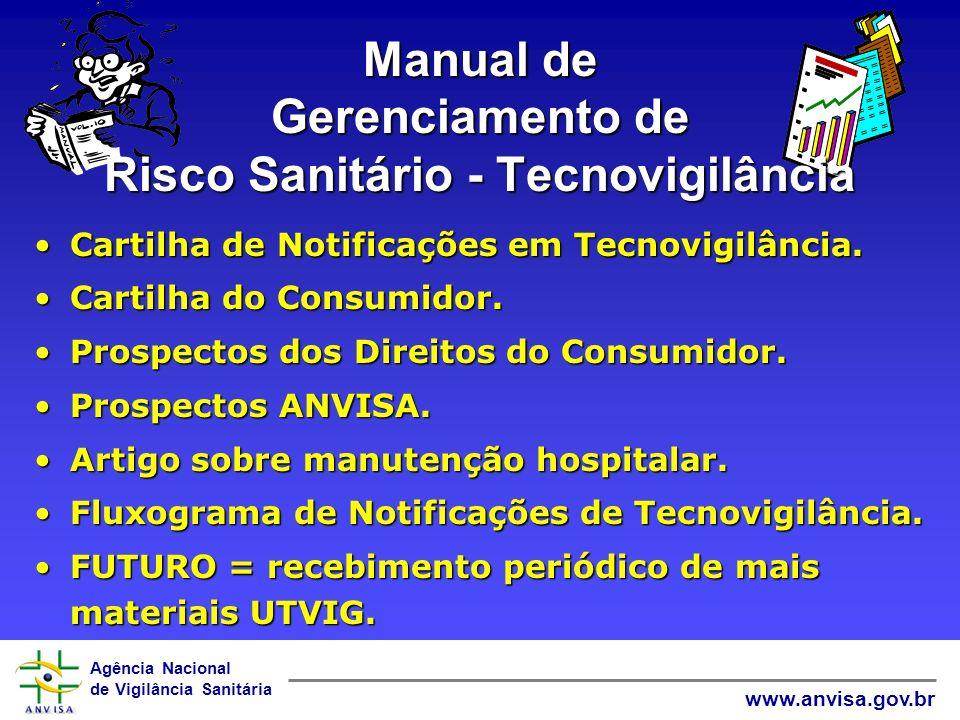 Agência Nacional de Vigilância Sanitária www.anvisa.gov.br Manual de Gerenciamento de Risco Sanitário - Tecnovigilância Cartilha de Notificações em Te