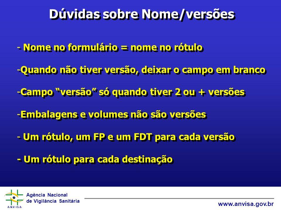 Agência Nacional de Vigilância Sanitária www.anvisa.gov.br Obrigado por sua atenção.