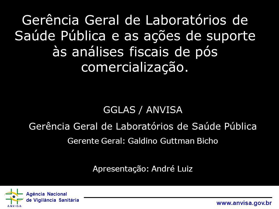 Agência Nacional de Vigilância Sanitária www.anvisa.gov.br Gerência Geral de Laboratórios de Saúde Pública e as ações de suporte às análises fiscais d