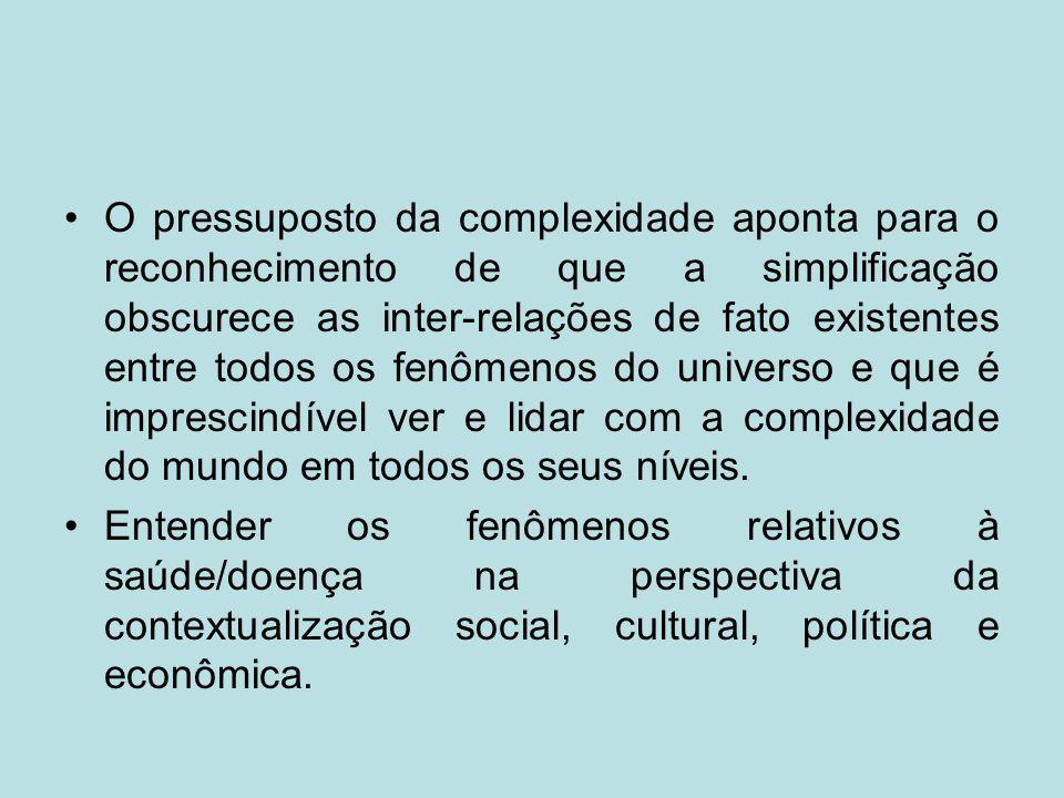 Indeterminação e imprevisibilidade (novas determinações sociais, culturais e políticas que superam modelos explicativos de risco.