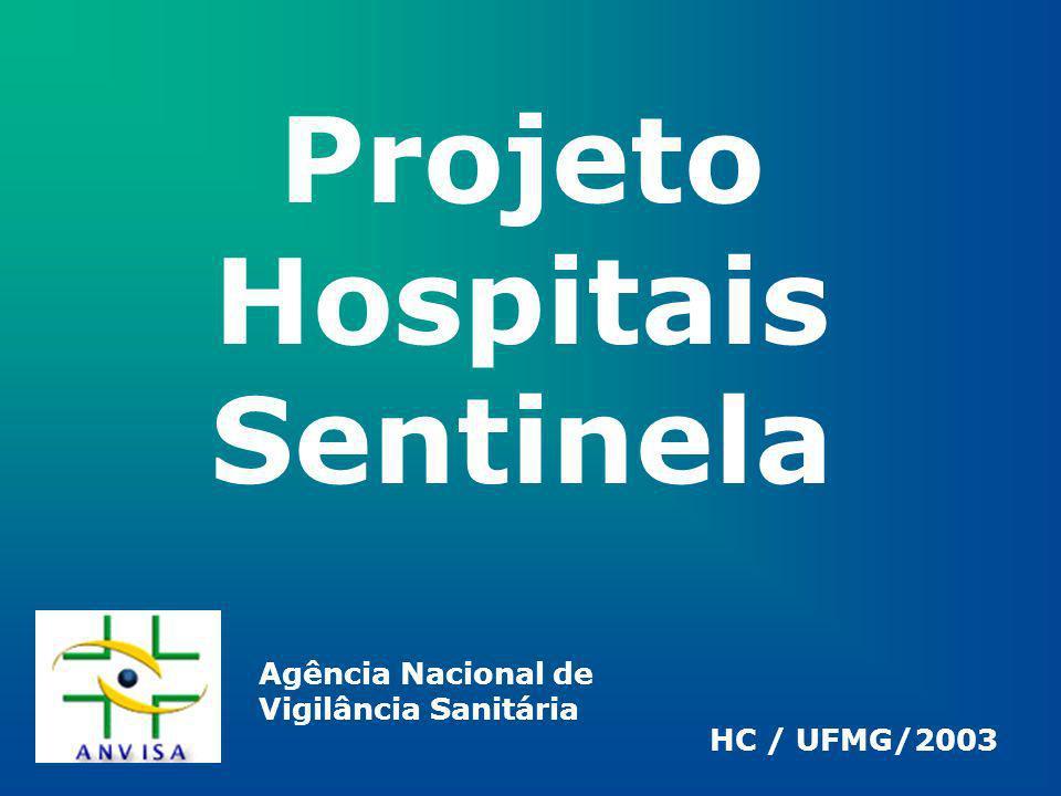 Projeto Hospitais Sentinela HC / UFMG/2003 Agência Nacional de Vigilância Sanitária