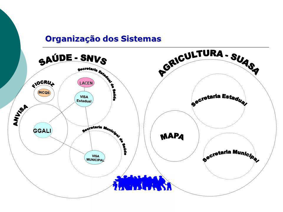 Organização dos Sistemas LACEN LACEN GGALI VISAMUNICIPAL VISAEstadual INCQS