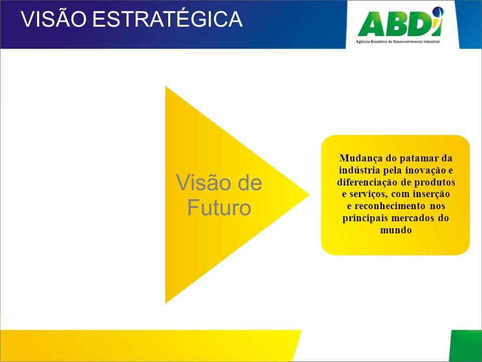 Mudança do patamar da indústria pela inovação e diferenciação de produtos e serviços, com inserção e reconhecimento nos principais mercados do mundo V