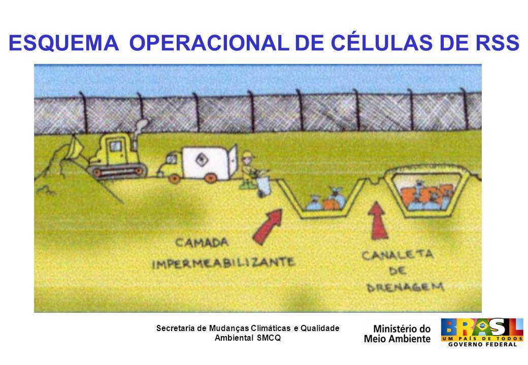 Secretaria de Mudanças Climáticas e Qualidade Ambiental SMCQ ESQUEMA OPERACIONAL DE CÉLULAS DE RSS