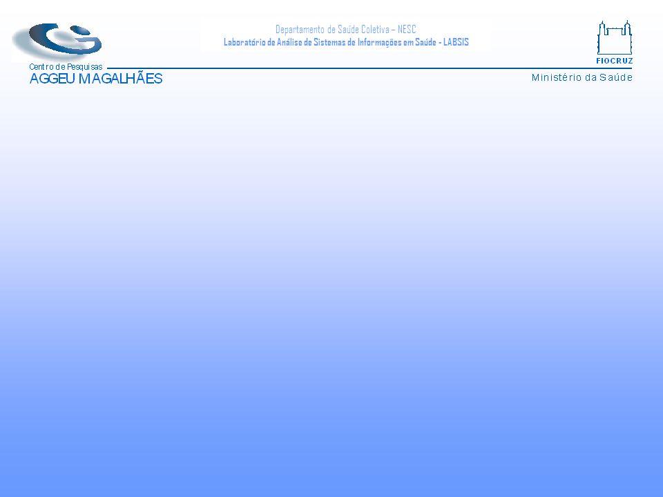 Departamento de Saúde Coletiva – NESC Laboratório de Análise de Sistemas de Informações em Saúde - LABSIS