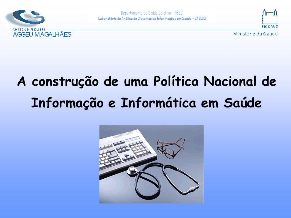 Departamento de Saúde Coletiva – NESC Laboratório de Análise de Sistemas de Informações em Saúde - LABSIS A construção de uma Política Nacional de Informação e Informática em Saúde