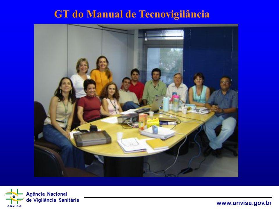 Agência Nacional de Vigilância Sanitária www.anvisa.gov.br GT do Manual de Tecnovigilância