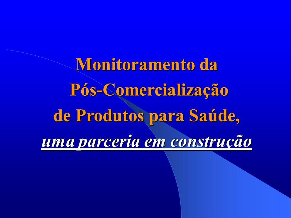 Monitoramento da Pós-Comercialização Pós-Comercialização de Produtos para Saúde, uma parceria em construção