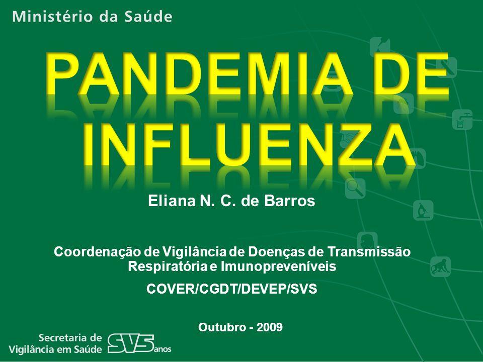 Outubro - 2009 Eliana N. C. de Barros Coordenação de Vigilância de Doenças de Transmissão Respiratória e Imunopreveníveis COVER/CGDT/DEVEP/SVS