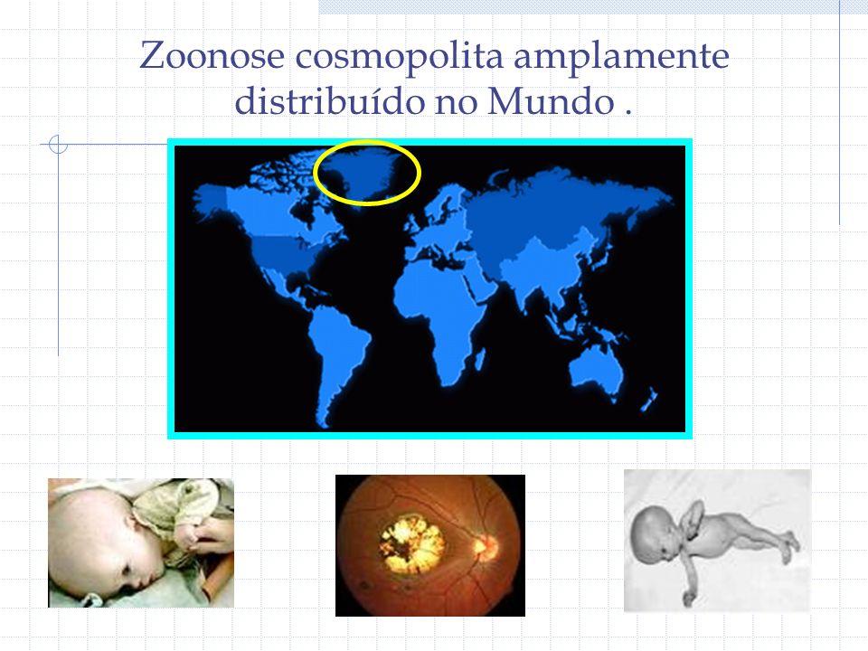 Zoonose cosmopolita amplamente distribuído no Mundo.