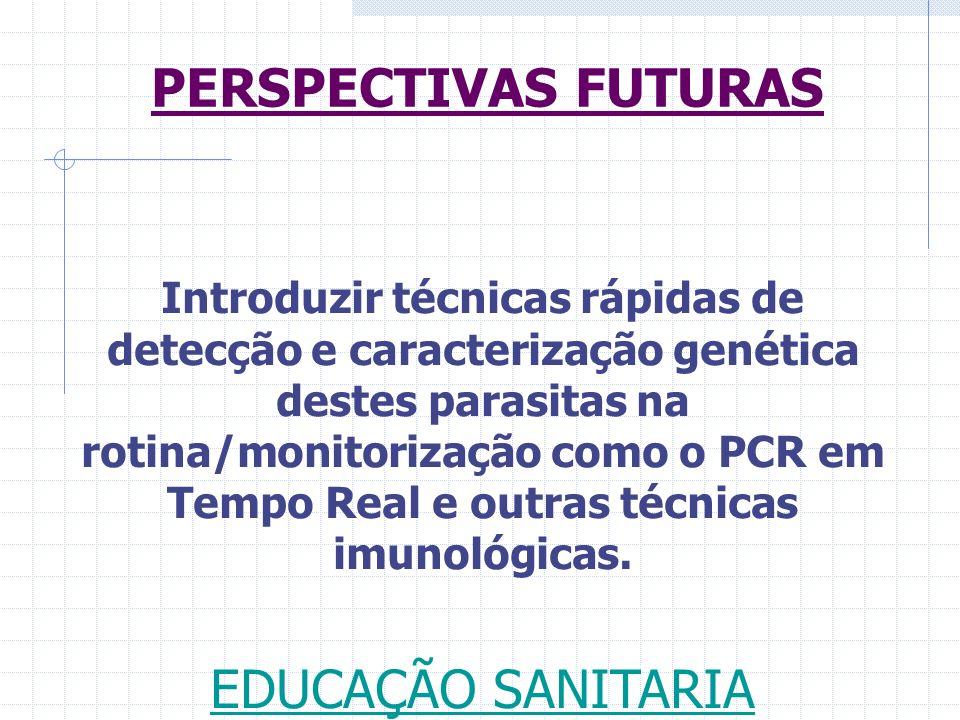 Introduzir técnicas rápidas de detecção e caracterização genética destes parasitas na rotina/monitorização como o PCR em Tempo Real e outras técnicas