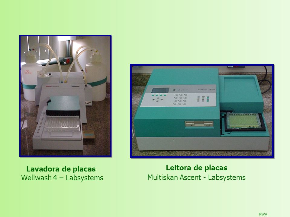 RWA Lavadora de placas Wellwash 4 – Labsystems Leitora de placas Multiskan Ascent - Labsystems