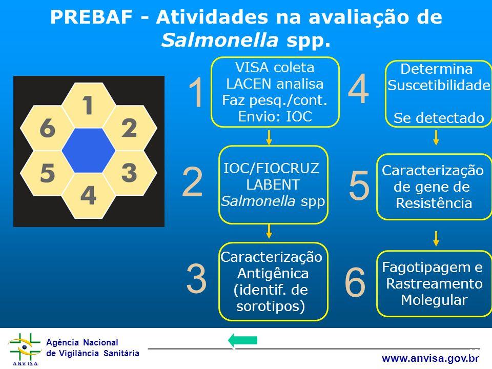 Agência Nacional de Vigilância Sanitária www.anvisa.gov.br 10 1 4 2 5 3 6 VISA coleta LACEN analisa Faz pesq./cont. Envio: IOC Determina Suscetibilida