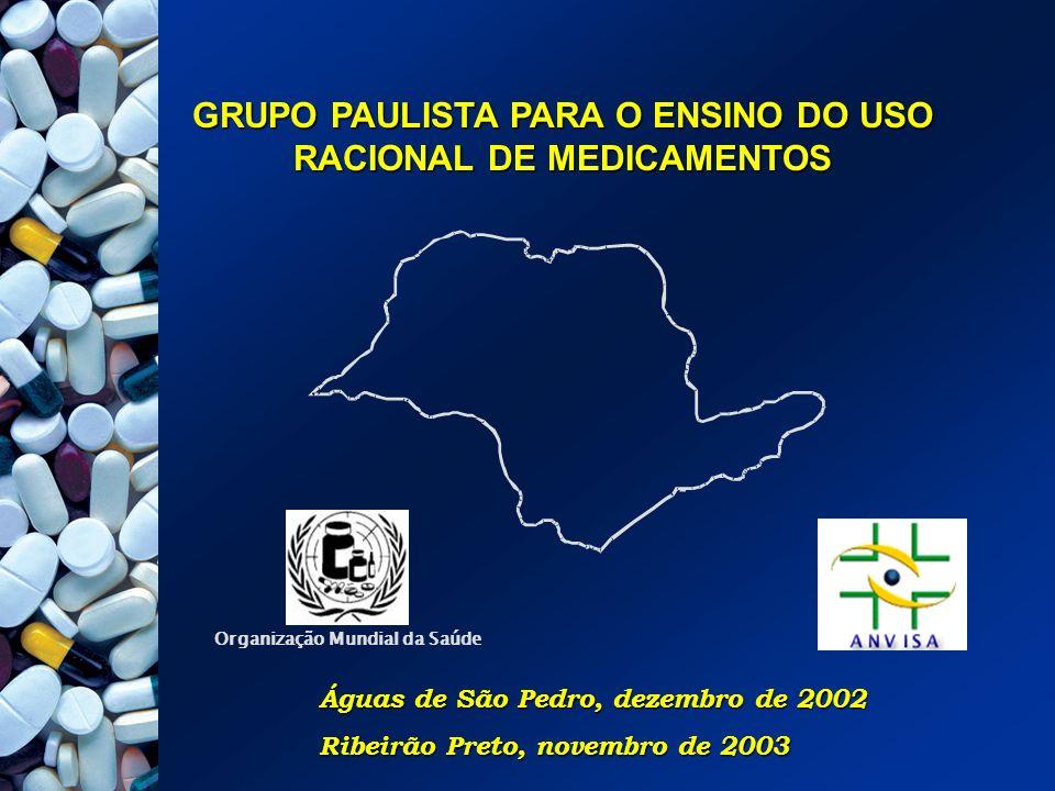 AUGUSTO SCALABRINI NETO - FMUSP CLARICE ALEGRE PETRAMALE - ANVISA EDUARDO BARBOSA COELHO - FMRP-USP MARIA DE LOURDES MACHADO DE OLIVEIRA - FMRP-USP TARCISIO ADILSON R.