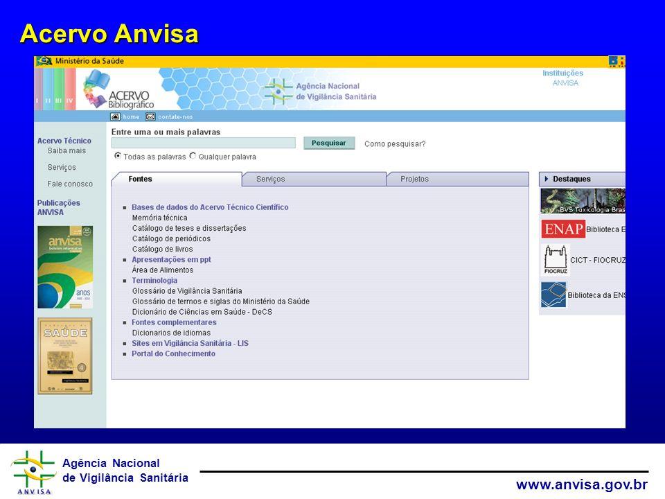 Agência Nacional de Vigilância Sanitária www.anvisa.gov.br Gestão da Prática – Sistema de Parecer