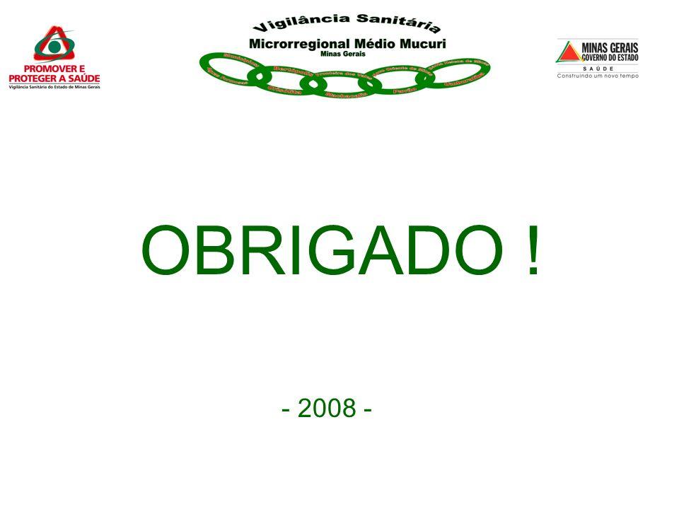 OBRIGADO ! - 2008 -