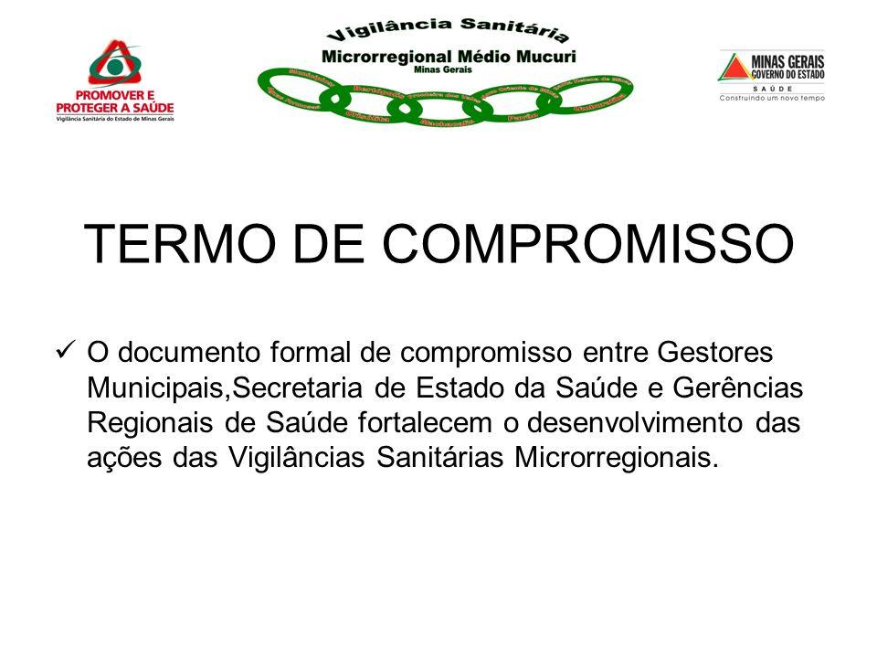 TERMO DE COMPROMISSO O documento formal de compromisso entre Gestores Municipais,Secretaria de Estado da Saúde e Gerências Regionais de Saúde fortalec