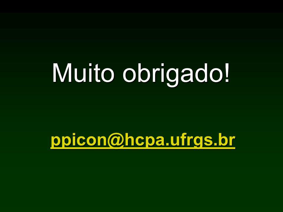 Muito obrigado! ppicon@hcpa.ufrgs.br