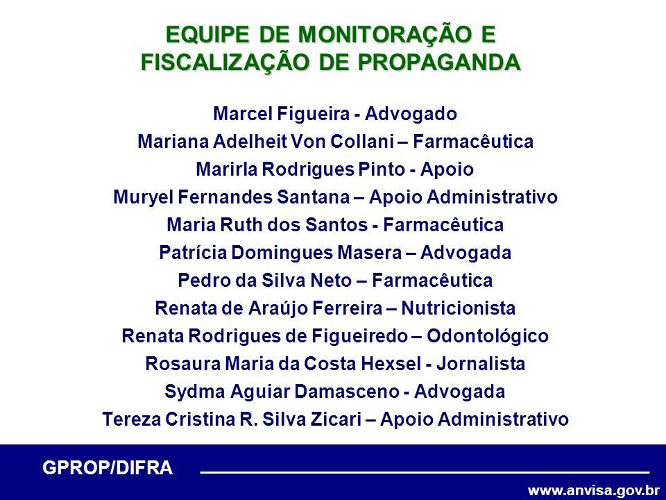 www.anvisa.gov.br GPROP/DIFRA Marcel Figueira - Advogado Mariana Adelheit Von Collani – Farmacêutica Marirla Rodrigues Pinto - Apoio Muryel Fernandes
