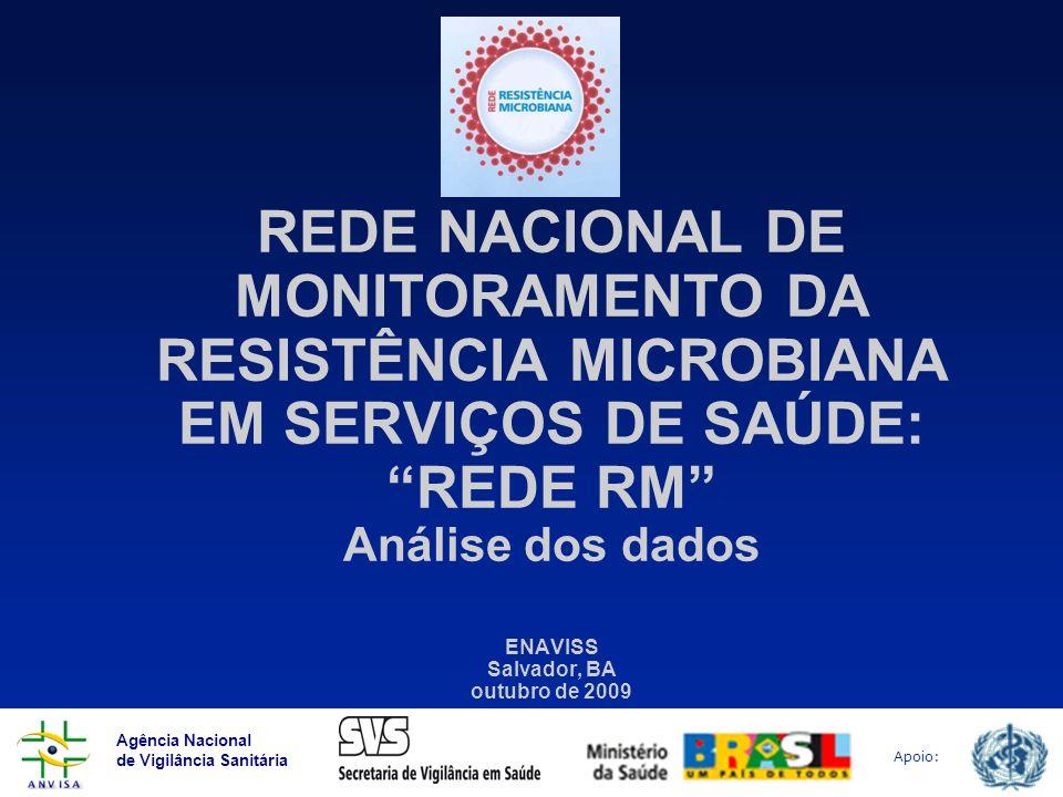 Agência Nacional de Vigilância Sanitária Apoio: Conceito Projeto executado por meio de um Termo de Cooperação (TC 37) OPAS/ANVISA-MS/CGLAB-SVS-MS Início: 2006-2008.