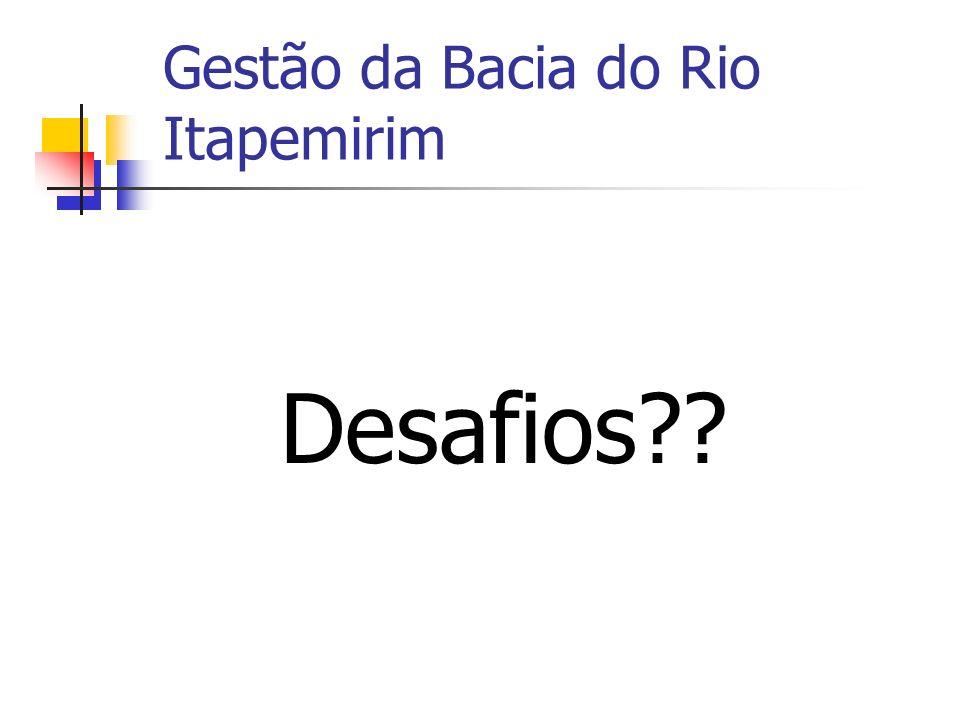 Gestão da Bacia do Rio Itapemirim Desafios??
