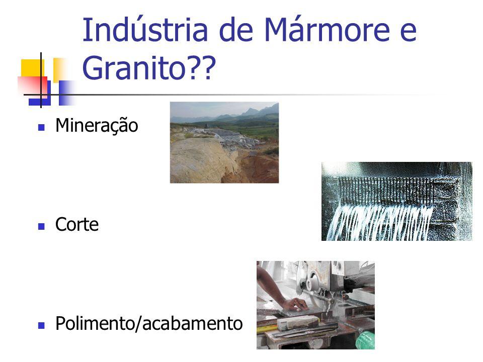 Indústria de Mármore e Granito?? Mineração Corte Polimento/acabamento
