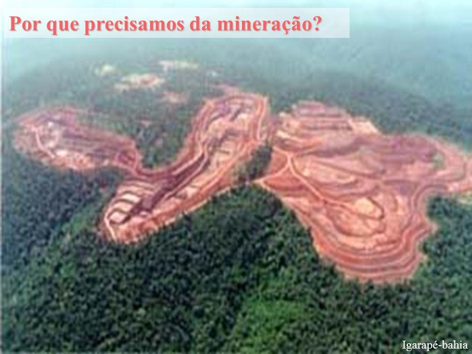 Igarapé-bahia Por que precisamos da mineração?