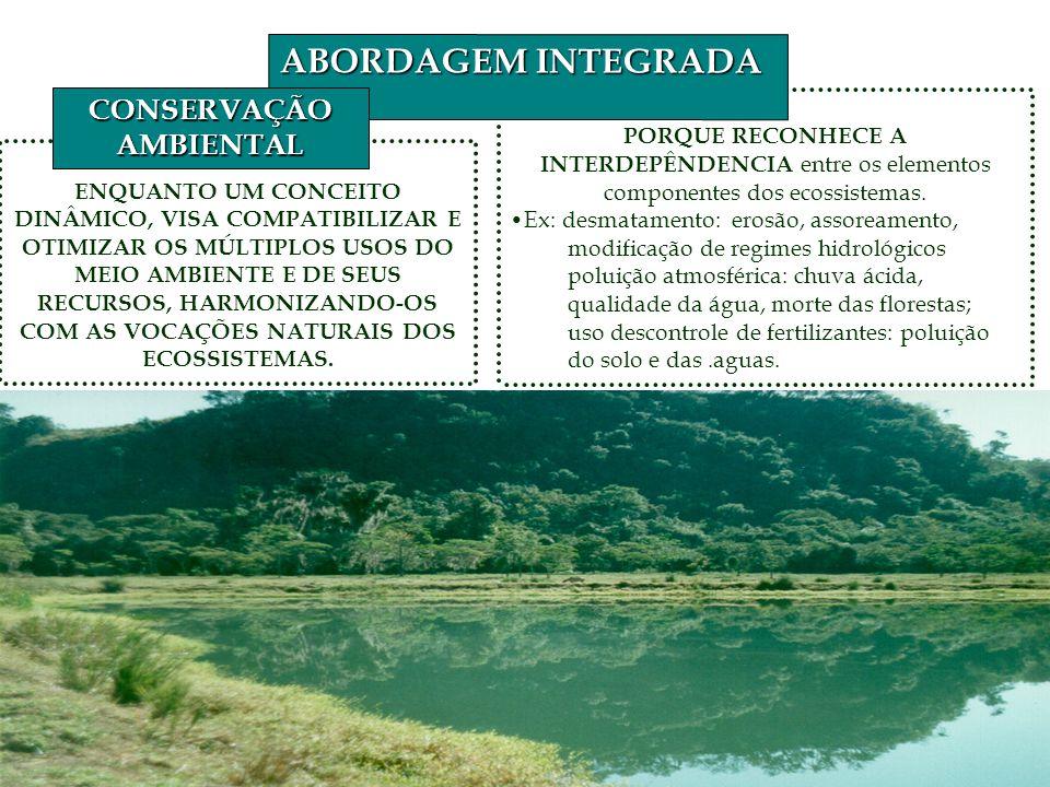 PORQUE RECONHECE A INTERDEPÊNDENCIA entre os elementos componentes dos ecossistemas.