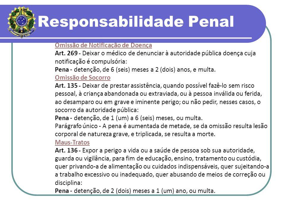 Responsabilidade Penal Omissão de Notificação de Doença Art.
