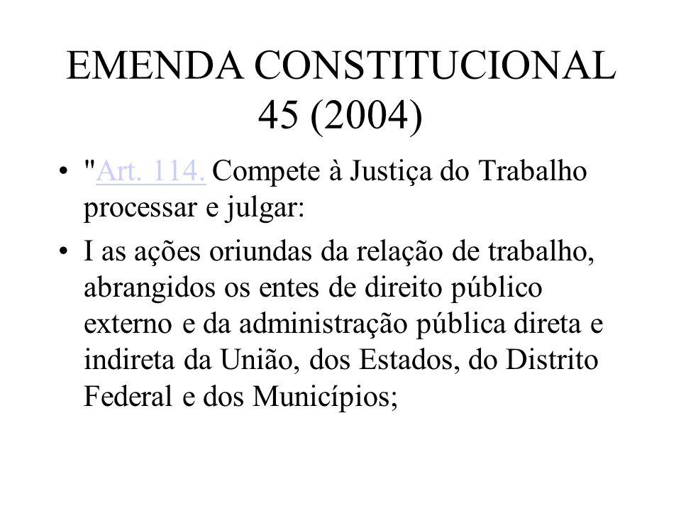 EMENDA CONSTITUCIONAL 45 (2004)