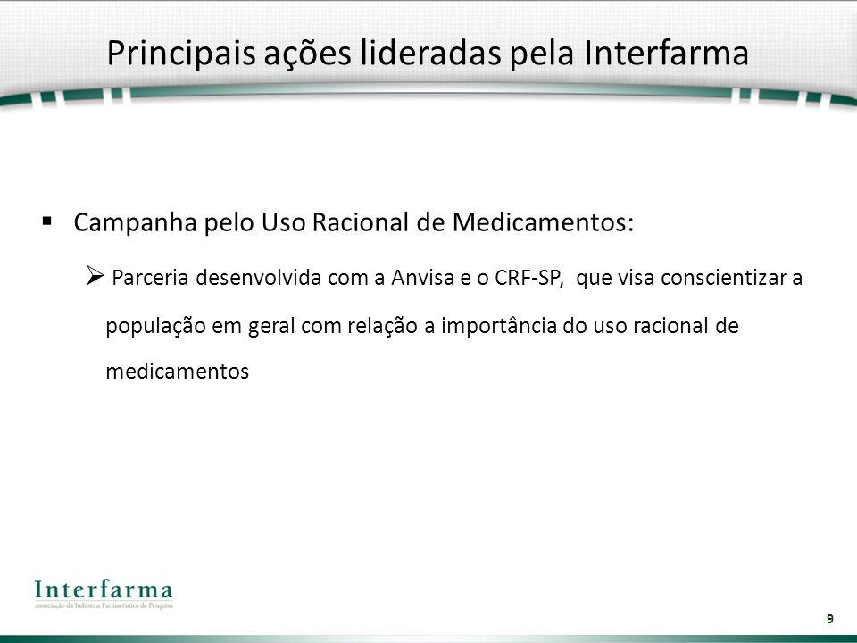 9 Campanha pelo Uso Racional de Medicamentos: Parceria desenvolvida com a Anvisa e o CRF-SP, que visa conscientizar a população em geral com relação a