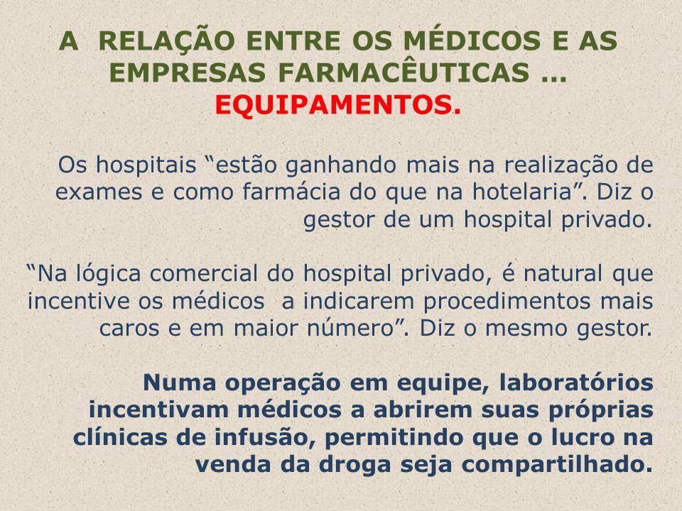 A RELAÇÃO ENTRE OS MÉDICOS E AS EMPRESAS FARMACÊUTICAS...