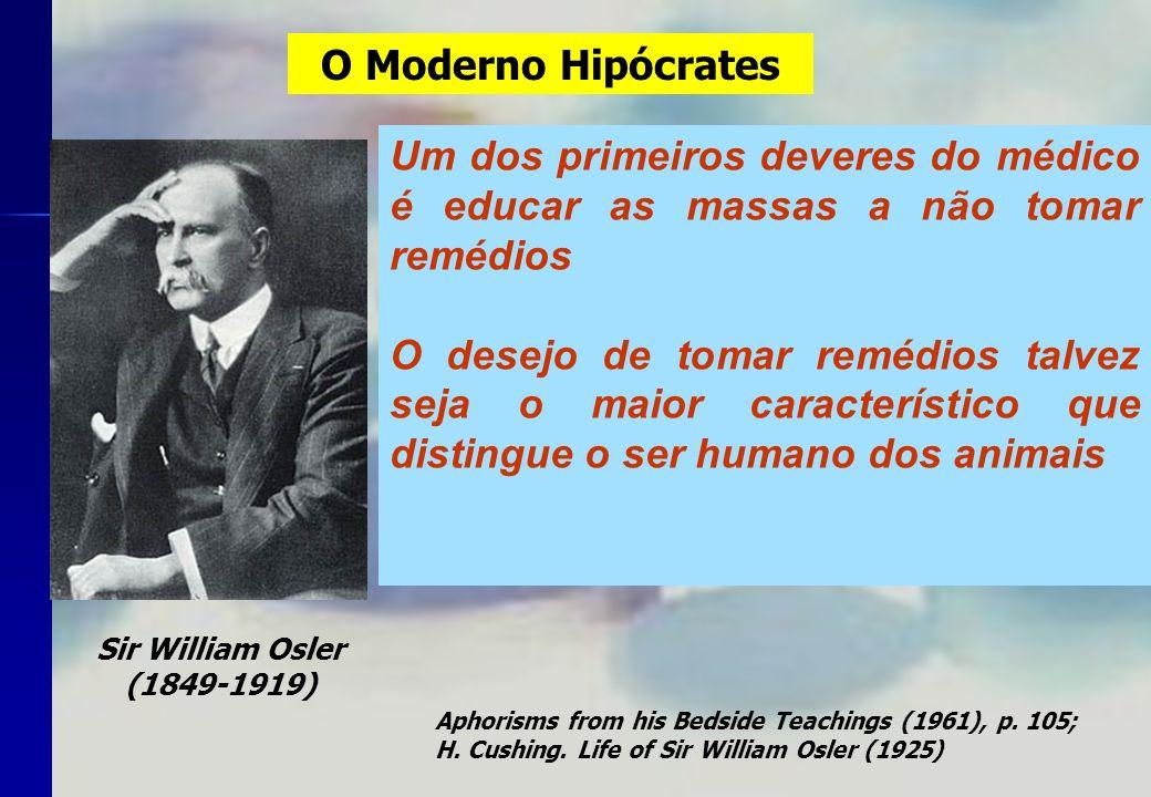 O Moderno Hipócrates Um dos primeiros deveres do médico é educar as massas a não tomar remédios O desejo de tomar remédios talvez seja o maior caracte