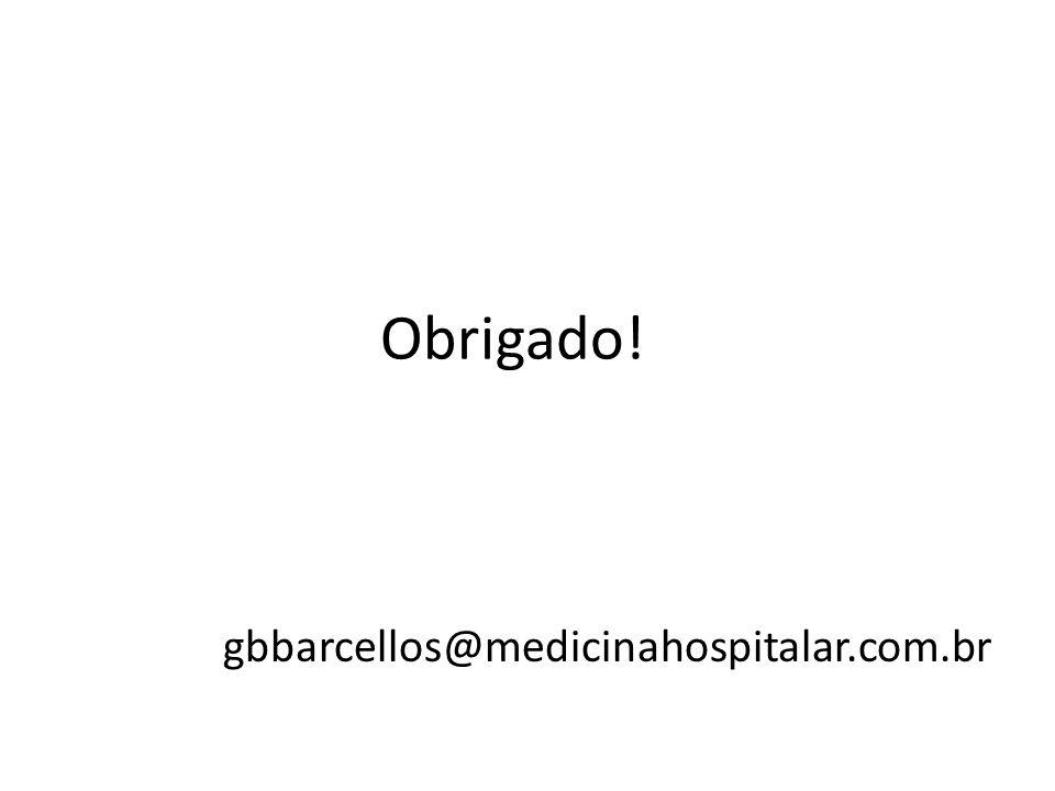 Obrigado! gbbarcellos@medicinahospitalar.com.br