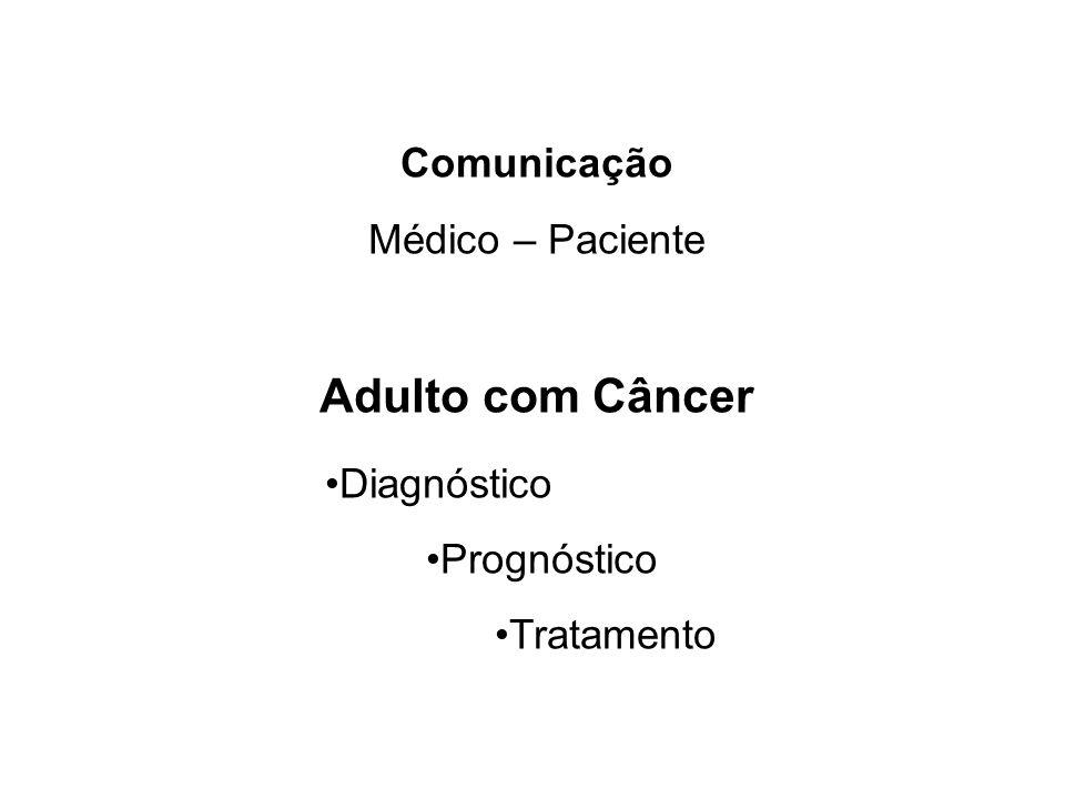 Comunicação Médico – Paciente Adulto com Câncer Diagnóstico Prognóstico Tratamento