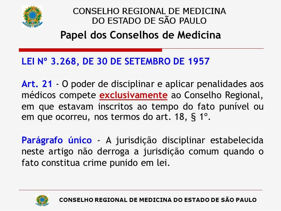 CONSELHO REGIONAL DE MEDICINA DO ESTADO DE SÃO PAULO Tempo de Tramitação e Situações Excepcionais Tempo de tramitação de 4 anos em média (CEM-Art.